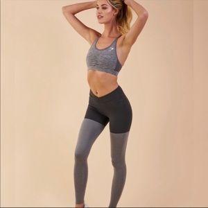 Gymshark TwoTone Leggings Black Marl/Charcoal Marl